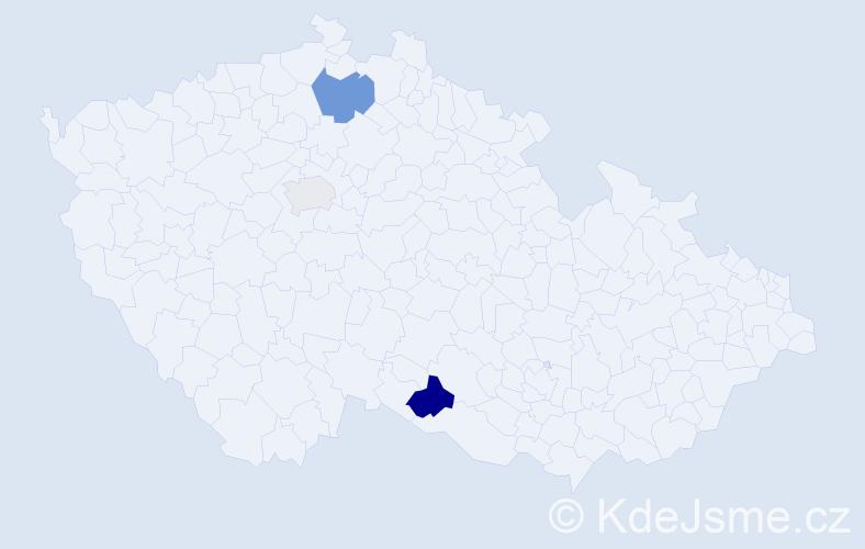 Příjmení: 'Kunzo', počet výskytů 5 v celé ČR