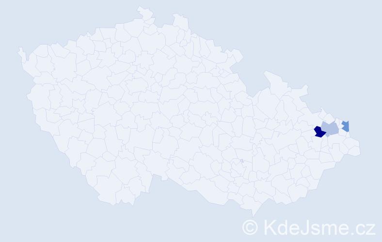 Příjmení: 'Debreczenyiová', počet výskytů 3 v celé ČR