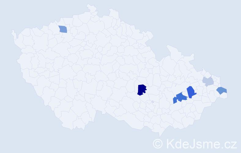 Příjmení: 'Jalovičiar', počet výskytů 7 v celé ČR