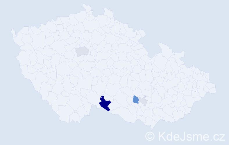 Příjmení: 'Giordano', počet výskytů 7 v celé ČR
