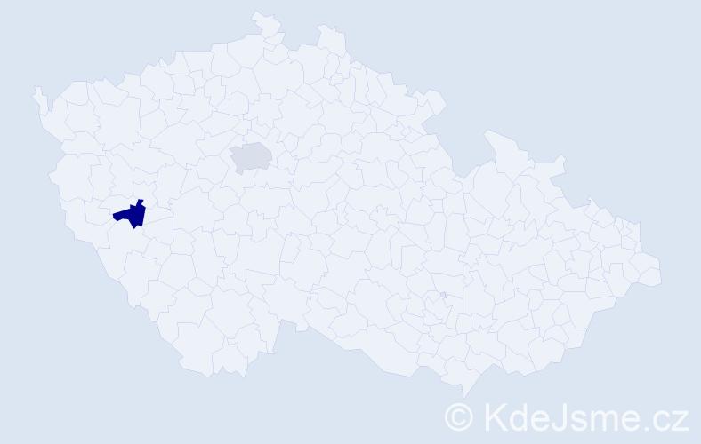 Příjmení: 'Lenaerts', počet výskytů 5 v celé ČR