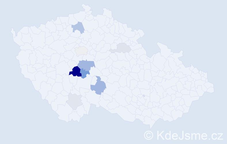 Příjmení: 'Kruchňa', počet výskytů 34 v celé ČR