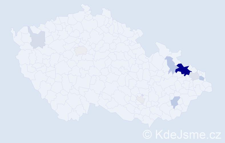 Příjmení: 'Heim', počet výskytů 30 v celé ČR