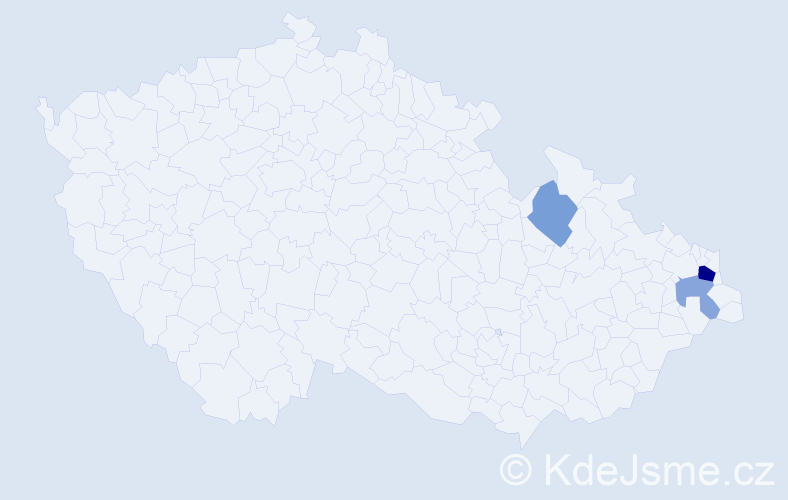 Příjmení: 'Hanušovská', počet výskytů 6 v celé ČR
