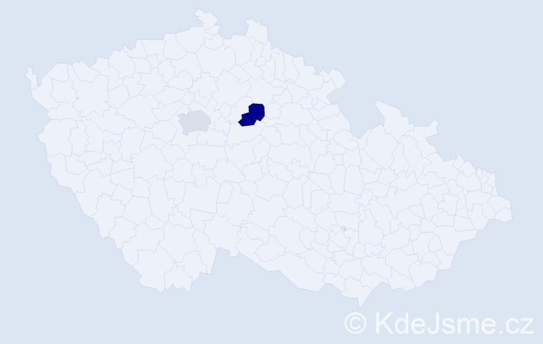 Příjmení: 'Boriščáková', počet výskytů 2 v celé ČR