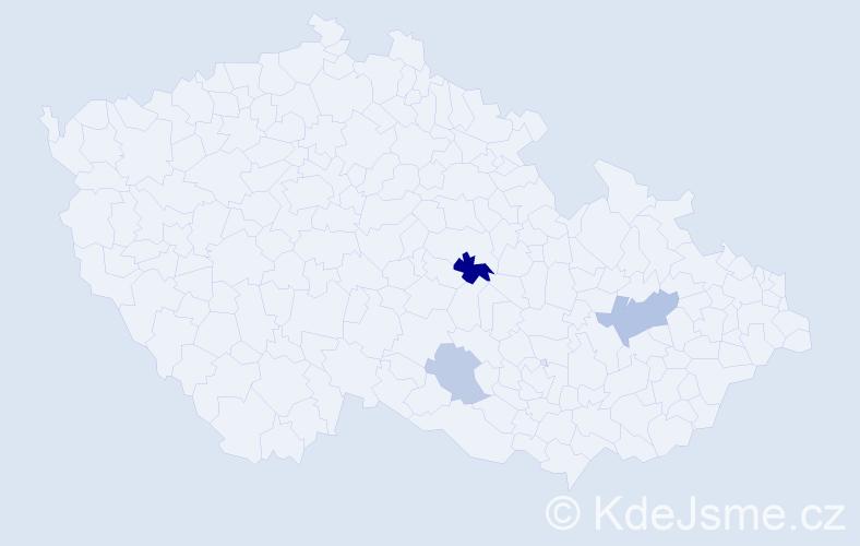 Příjmení: 'Číhák', počet výskytů 6 v celé ČR
