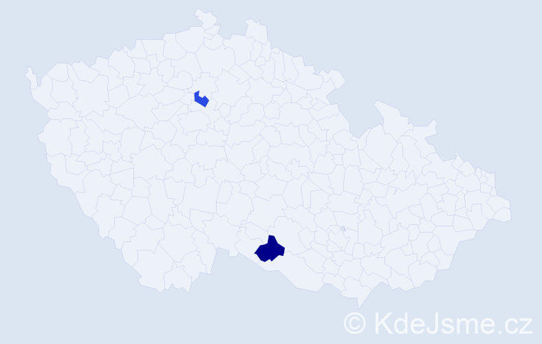 Příjmení: 'Feldbabelová', počet výskytů 9 v celé ČR
