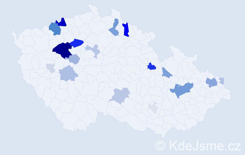 Příjmení: 'Lenčéšová', počet výskytů 41 v celé ČR