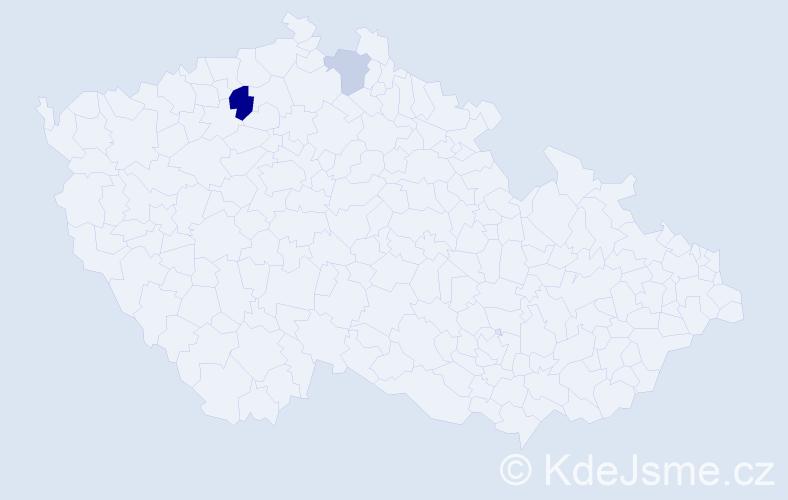 Příjmení: 'Jaškovová', počet výskytů 4 v celé ČR