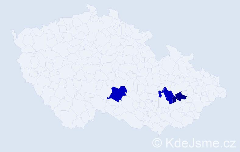 Příjmení: 'Leidemannová', počet výskytů 3 v celé ČR