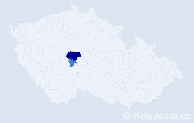Příjmení: 'Jajčišinová', počet výskytů 10 v celé ČR