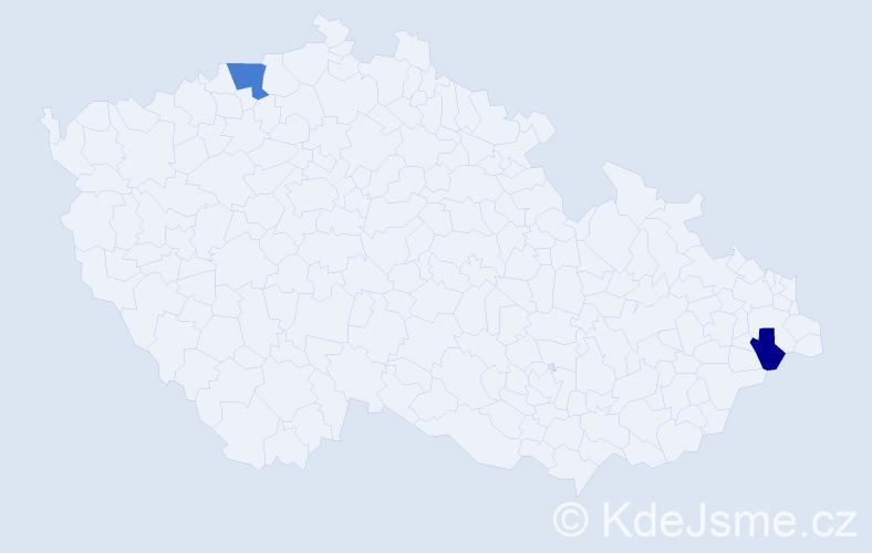 Příjmení: 'Andrásyová', počet výskytů 3 v celé ČR
