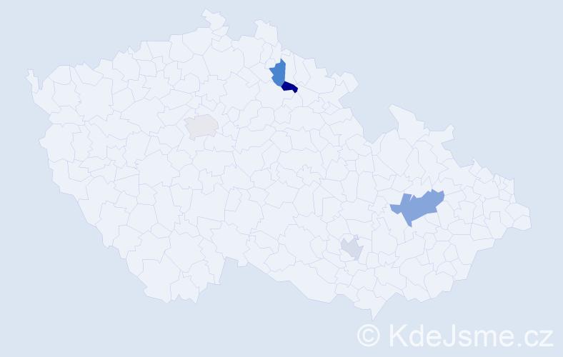 Příjmení: 'Greenwood', počet výskytů 6 v celé ČR