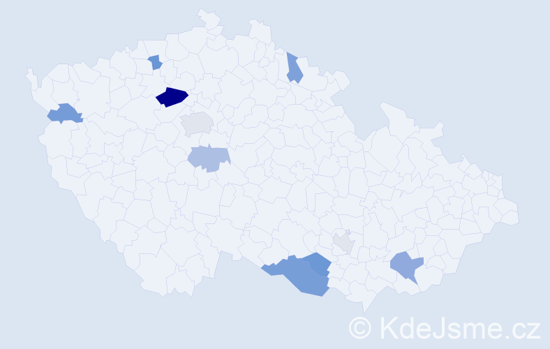 Příjmení: 'Jančušková', počet výskytů 19 v celé ČR