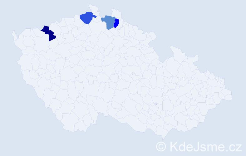 Příjmení: 'Avram', počet výskytů 4 v celé ČR