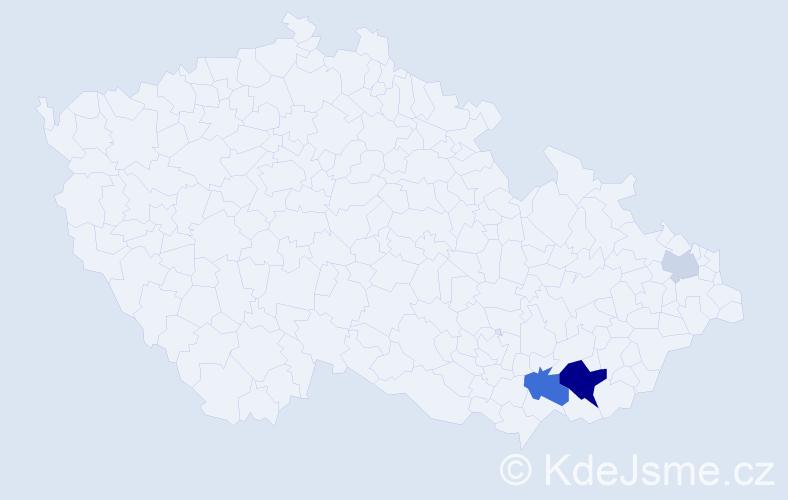 Příjmení: 'Eibensteiner', počet výskytů 8 v celé ČR
