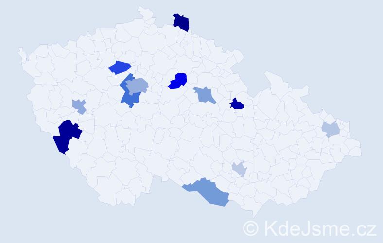Příjmení: 'Foster', počet výskytů 18 v celé ČR