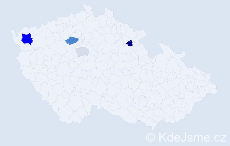 Příjmení: 'Kolditz', počet výskytů 7 v celé ČR