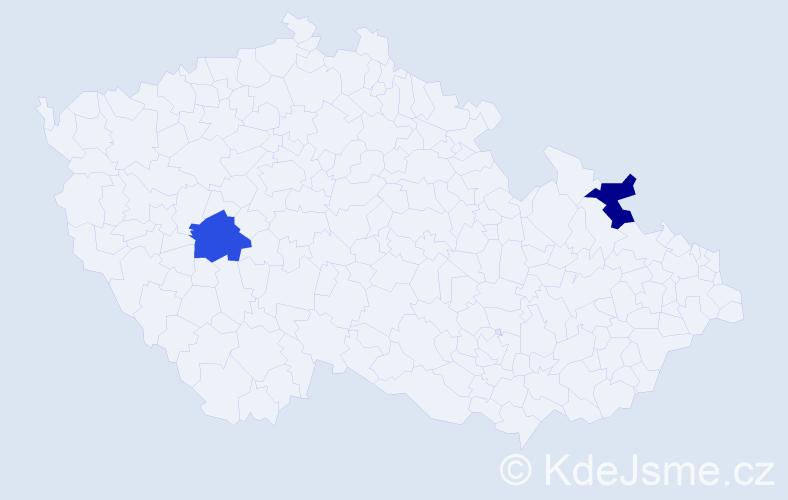 Příjmení: 'Hrabuša', počet výskytů 2 v celé ČR