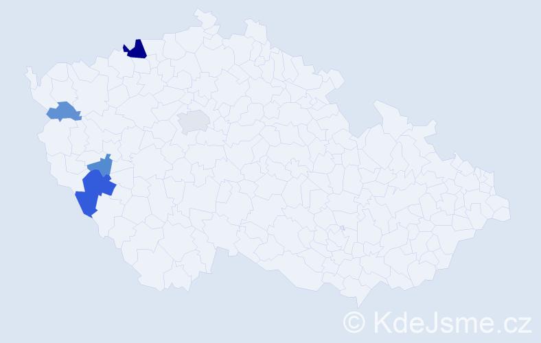 Příjmení: 'Irlvek', počet výskytů 11 v celé ČR