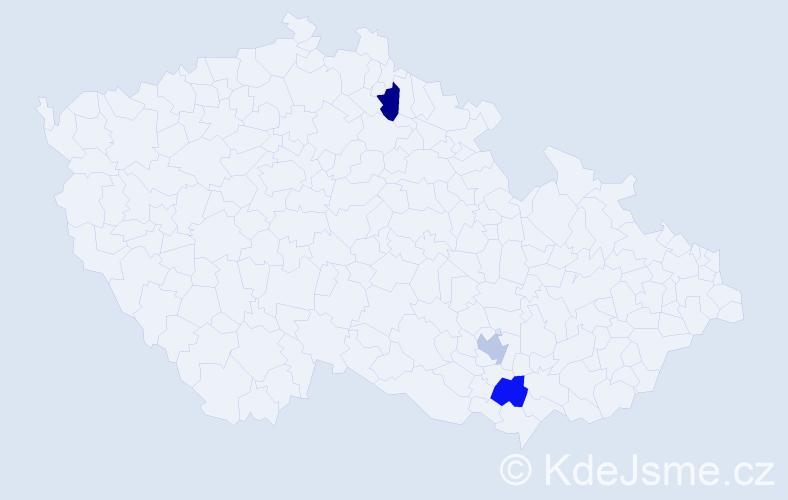 Příjmení: 'Landowska', počet výskytů 3 v celé ČR