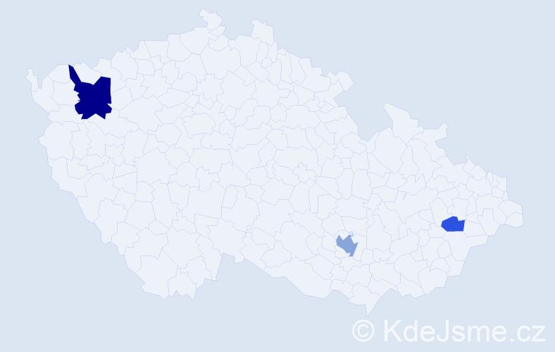 Příjmení: 'Enderes', počet výskytů 6 v celé ČR