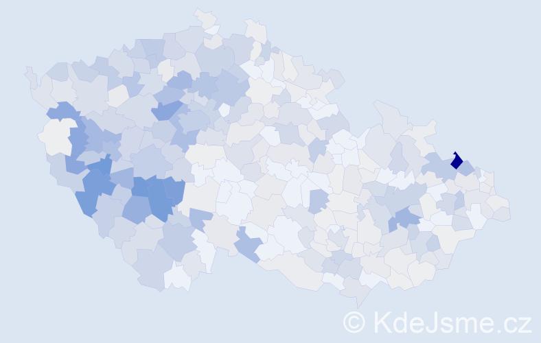 Příjmení: 'Hanzlík', počet výskytů 1953 v celé ČR