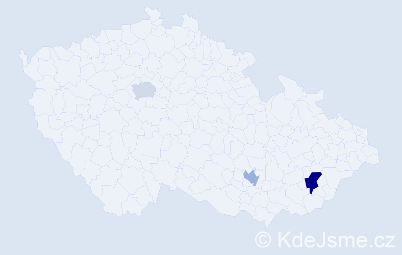 Příjmení: 'Ládyová', počet výskytů 4 v celé ČR