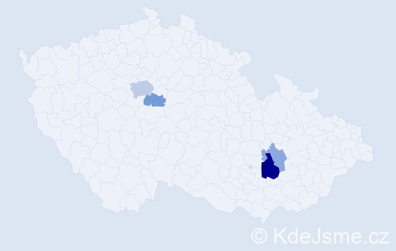 Příjmení: 'Ďuriník', počet výskytů 9 v celé ČR