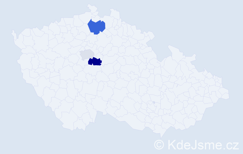Příjmení: 'Kavrza', počet výskytů 9 v celé ČR