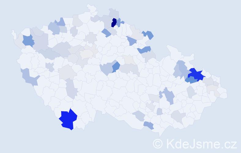 Příjmení: 'Čarná', počet výskytů 204 v celé ČR