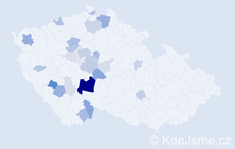 Příjmení: 'Bohuslávek', počet výskytů 94 v celé ČR