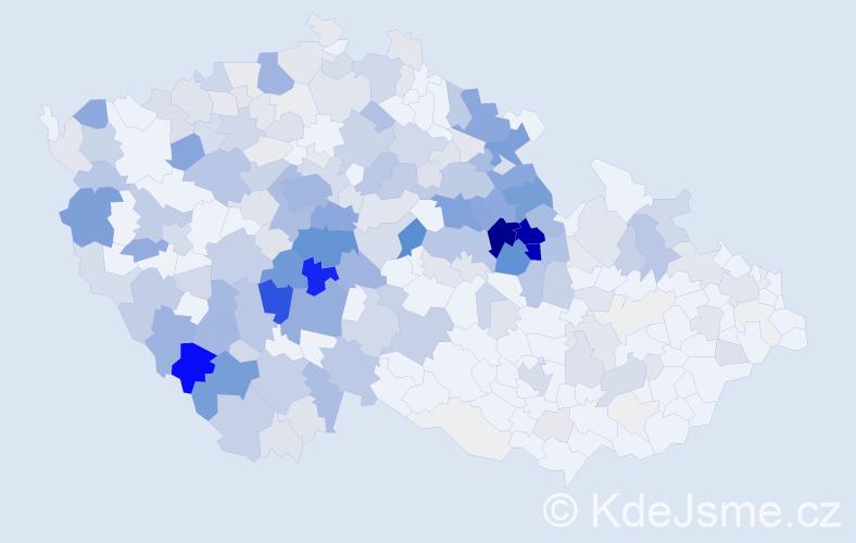 Příjmení: 'Jiroušek', počet výskytů 974 v celé ČR