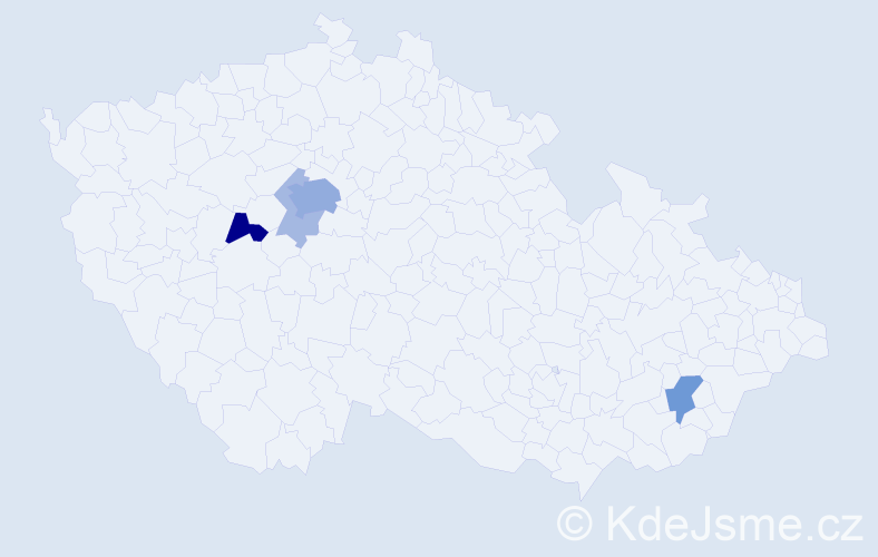Příjmení: 'Jakšić', počet výskytů 14 v celé ČR