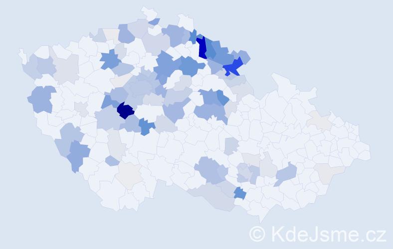 Příjmení: 'Jará', počet výskytů 350 v celé ČR