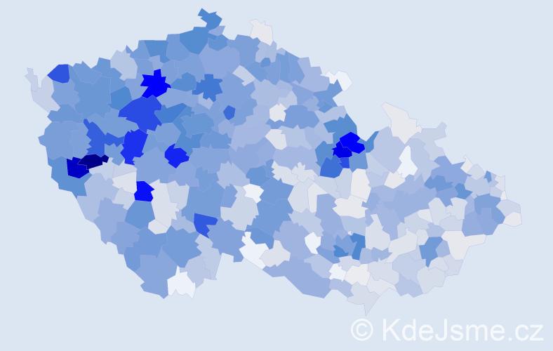 Příjmení: 'Fišer', počet výskytů 4190 v celé ČR