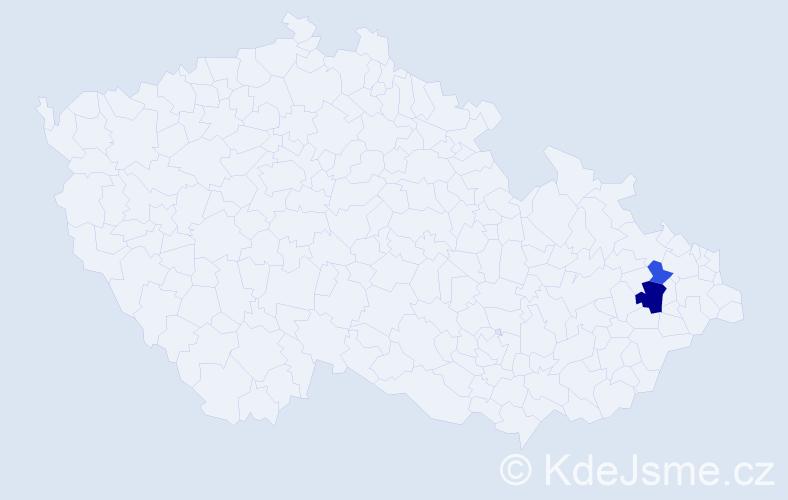 Příjmení: 'Holaška', počet výskytů 8 v celé ČR