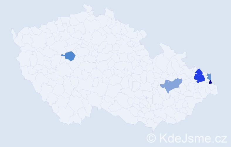 Příjmení: 'Čedroň', počet výskytů 10 v celé ČR