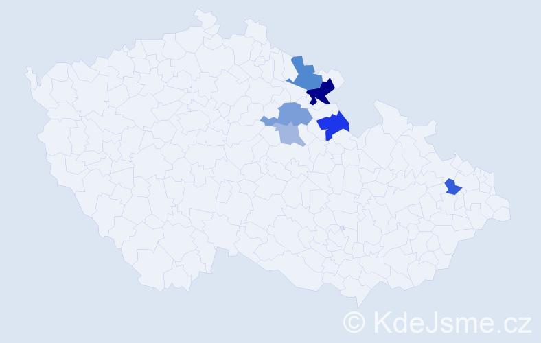 Příjmení: 'Drejslová', počet výskytů 23 v celé ČR