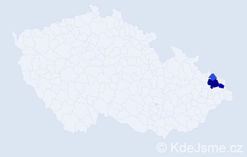 Příjmení: 'Bodurová', počet výskytů 12 v celé ČR