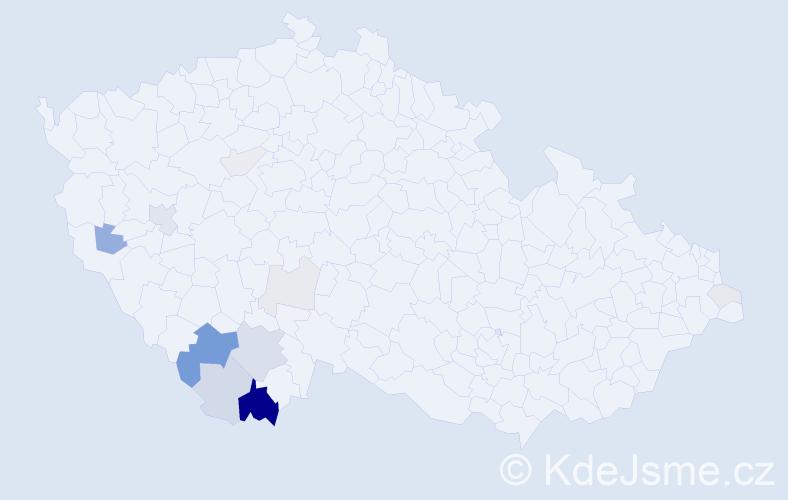 Příjmení: 'Interholz', počet výskytů 37 v celé ČR
