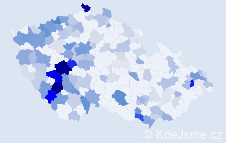 Příjmení: 'Hlinka', počet výskytů 508 v celé ČR