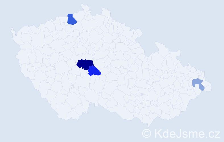 Příjmení: 'Bulfínková', počet výskytů 8 v celé ČR