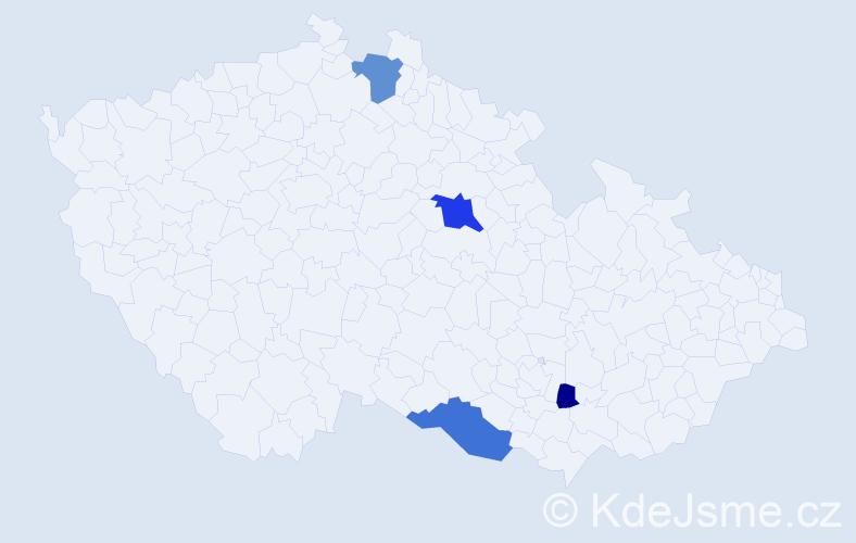 Příjmení: 'Dzan', počet výskytů 8 v celé ČR