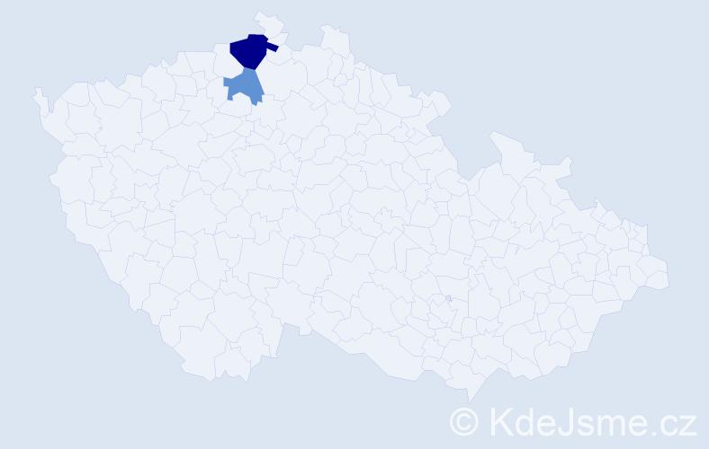 Příjmení: 'Kampy', počet výskytů 4 v celé ČR