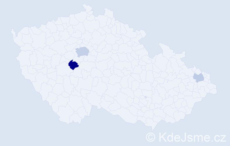 Příjmení: 'Čarňanský', počet výskytů 5 v celé ČR