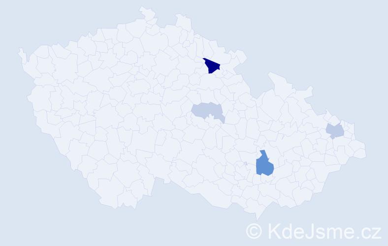 Příjmení: 'Iglová', počet výskytů 11 v celé ČR