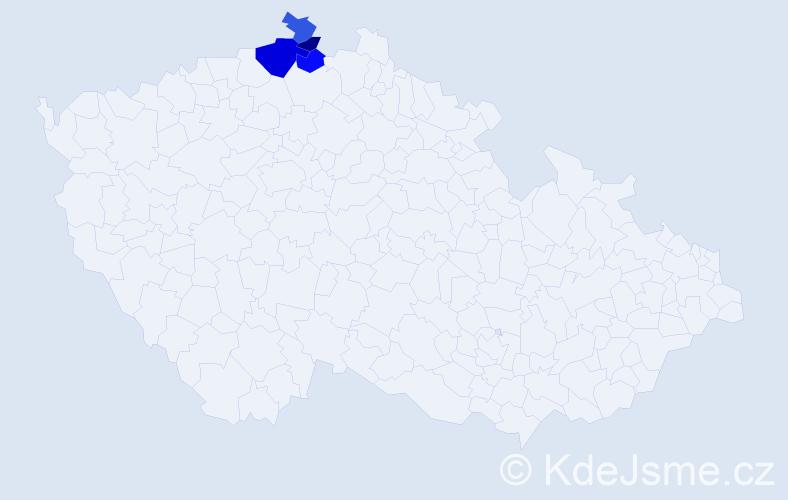 Příjmení: 'Gebyová', počet výskytů 6 v celé ČR