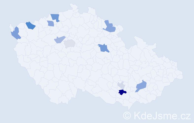 Příjmení: 'Huynh', počet výskytů 15 v celé ČR