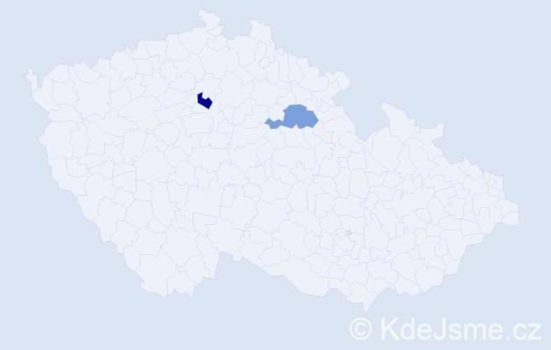 Příjmení: 'Gramiš', počet výskytů 2 v celé ČR